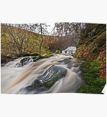Catrigg Force (Lower Falls) near Stainforth, Yorkshire Dales Poster