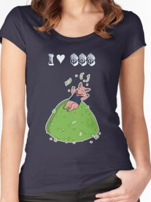 Capitalist Pig Women's Fitted Scoop T-Shirt