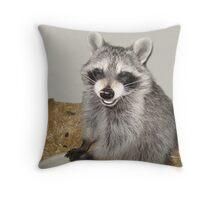 "Bandit says ""Cheese!"" Throw Pillow"