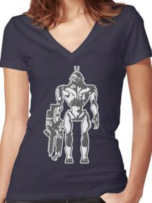 Prawn Soldier Women's Fitted V-Neck T-Shirt