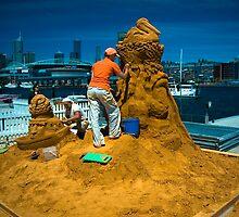 Sand sculptures  by Rowan Herring