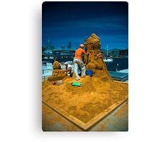 Sand sculptures  Canvas Print
