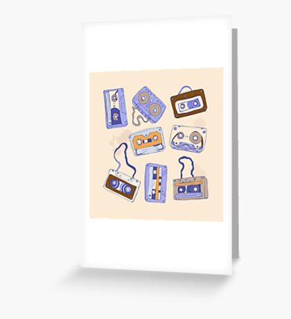 Audio cassette Greeting Card