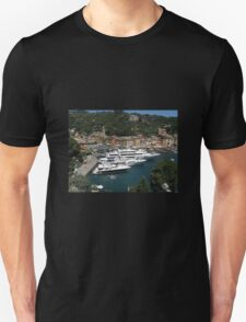 HARBOUR VIEW FROM A GREAT HEIGHT. Unisex T-Shirt