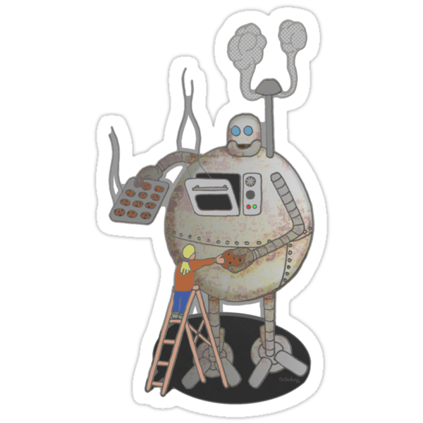 Asimo the cookie-bot by Octochimp Designs