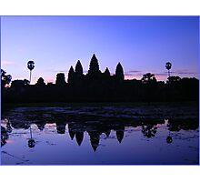 Angkor Silhouette, Siem Reap Photographic Print