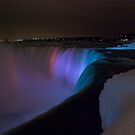 Niagara Falls, Ontario at night by (Tallow) Dave  Van de Laar