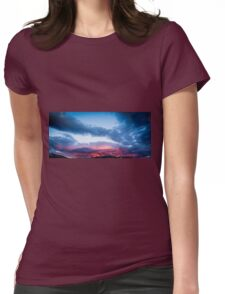 Fiery Clouds Womens Fitted T-Shirt