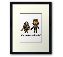 Master Chief & Grunt Framed Print