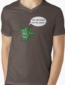 I AM NOT SMALL ! Mens V-Neck T-Shirt