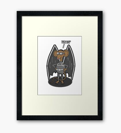 Yes, I am a bat ! Framed Print