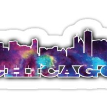 Chicago Skyline Galaxy Sticker