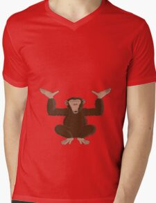 Just happy to be able to provide support Mens V-Neck T-Shirt