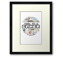 hello, I'm a gamer Framed Print