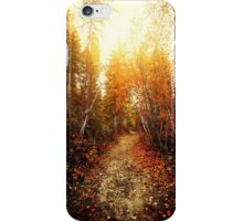 Red Forest, Washington in November iPhone Case/Skin