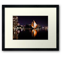 The Golden Sail Framed Print