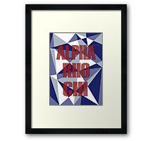 Geometric Alpha Rho Chi Framed Print