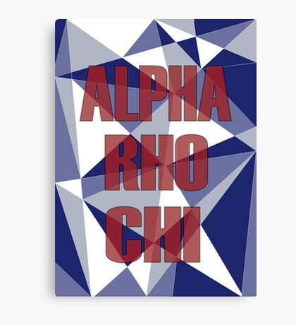 Geometric Alpha Rho Chi Canvas Print