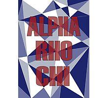 Geometric Alpha Rho Chi Photographic Print