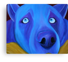 I feel so blue Canvas Print