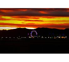 The Elusive Ferris Wheel Sunset Photographic Print