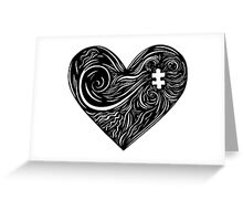 Linear Life - The Searching Heart Greeting Card