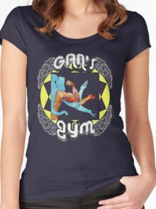 Gan's Gym - vintage Women's Fitted Scoop T-Shirt