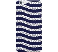 Nautical Braid in Navy and White iPhone Case/Skin