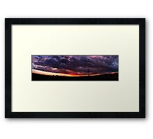 Sunset Stitch Framed Print