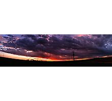 Sunset Stitch Photographic Print