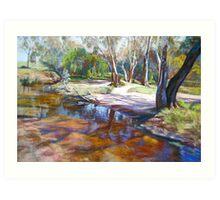 Creek Crossing, Avenel Art Print