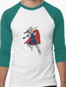 Knight Brandishing Sword Cartoon T-Shirt