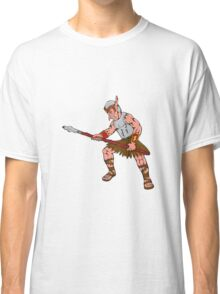 Orc Warrior Thrusting Spear Cartoon Classic T-Shirt