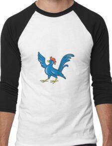 Chicken Rooster Wing Pointing Cartoon Men's Baseball ¾ T-Shirt