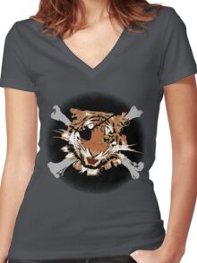 Jungle Piracy Women's Fitted V-Neck T-Shirt
