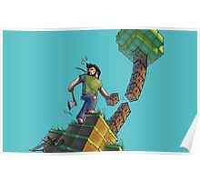 Minecraft Animation Tree Cutter Poster