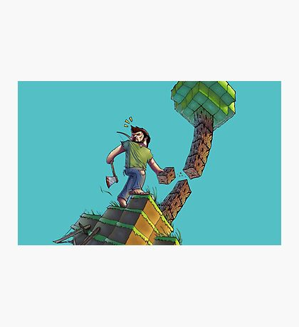 Minecraft Animation Tree Cutter Photographic Print