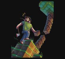 Minecraft Animation Tree Cutter Baby Tee