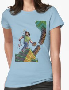 Minecraft Animation Tree Cutter Womens Fitted T-Shirt