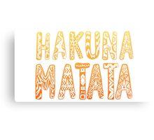 Hakuna Matata Canvas Print