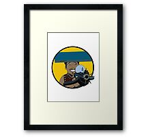 Z-140 (Alleviated titanium. Neurocharged assault model) Framed Print