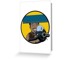 Z-140 (Alleviated titanium. Neurocharged assault model) Greeting Card