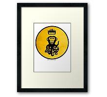 King Octochimp Says Hi Framed Print