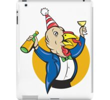 Turkey Celebrating Wine Party Hat Cartoon iPad Case/Skin