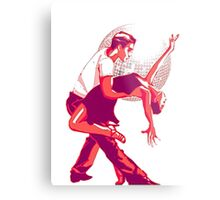 Strictly Salsa Couple Dancing With Glitter Ball Metal Print
