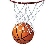 Basketball and Hoop Net by Gotcha29