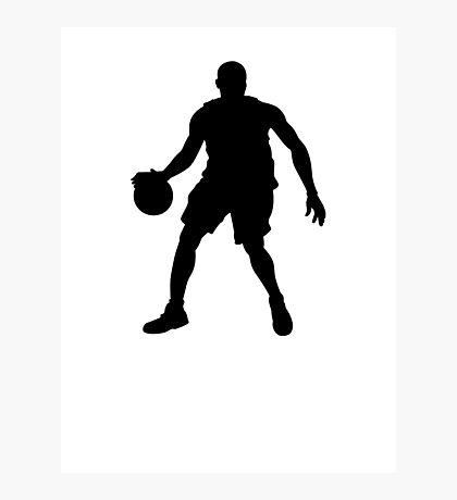 Basketball Player Silhouette 1 Photographic Print