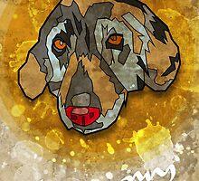 Geometric Dog by AshDesigns