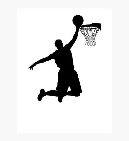 Basketball Player Silhouette 2 Photographic Print