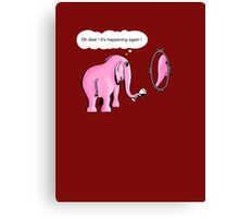 I drink to get trunk Canvas Print